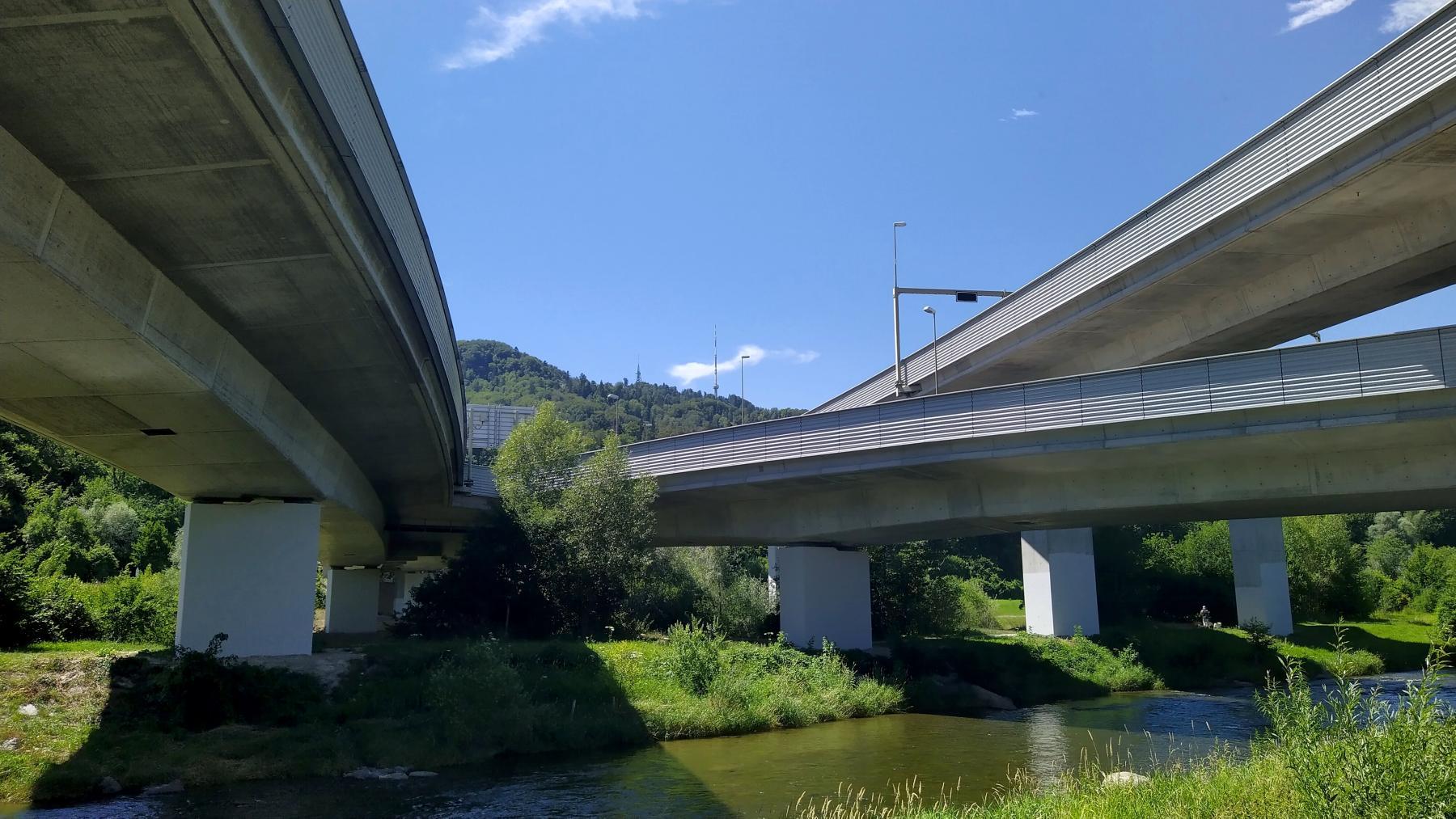 04b A3 vor Üetlibergtunnel