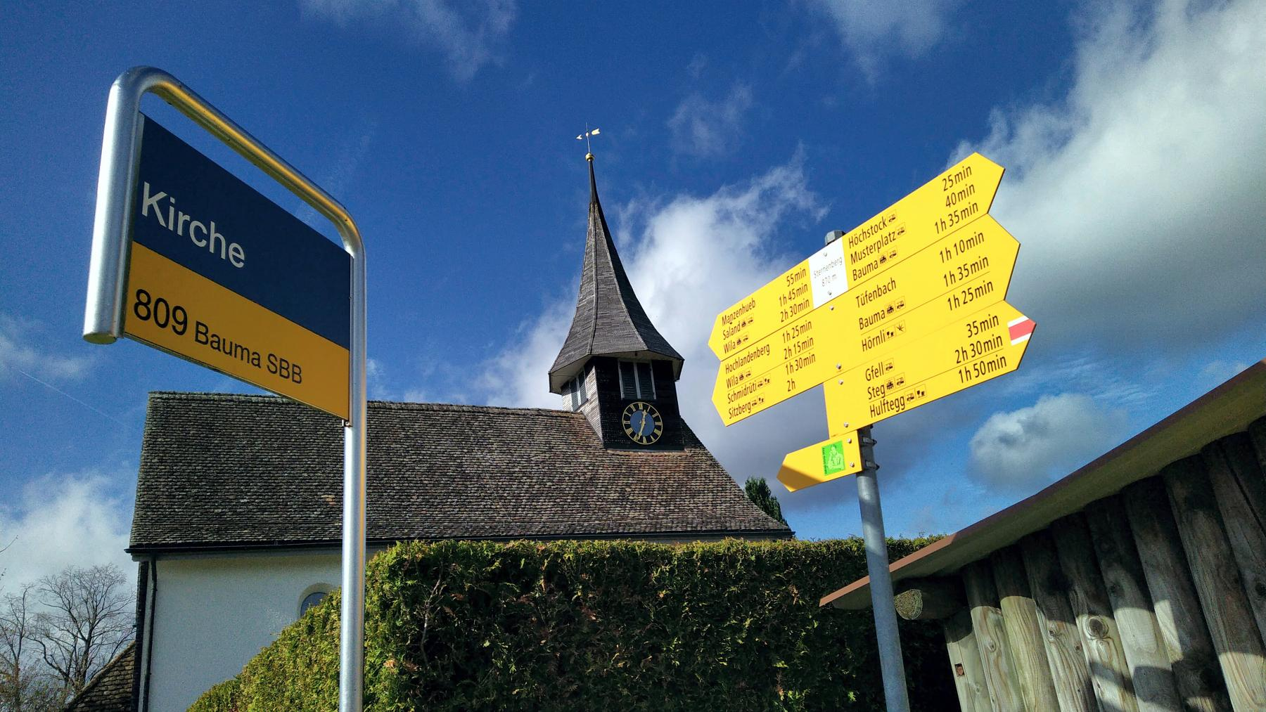 17 Sternenberg Kirche Station